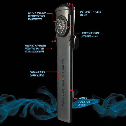 Cobalt Electronic Heater w/ Shatterproof Case 100 Watt