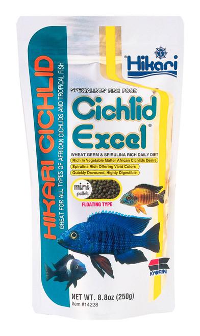 Hikari Cichlid Excel Pellet Fish Food 8.8oz Medium Pellet