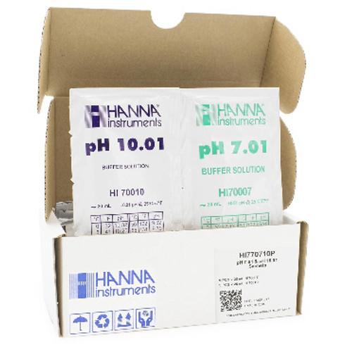 Hanna HI770710P pH 7.01 and 10.01 Sachets