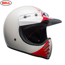 Bell Cruiser Moto 3 Adult Helmet (Ace Cafe GP 66 White/Blue/Red)