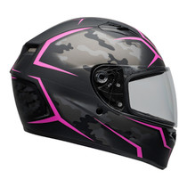 Bell 2020 Street Qualifier STD Adult Helmet Helmet (Stealth Camo Matte Black/Pink)
