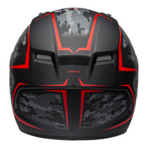 Bell 2020 Street Qualifier STD Adult Helmet Helmet (Stealth Camo Matte Black/Red)
