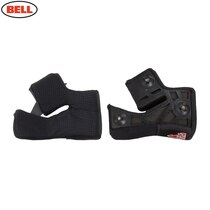 Bell Replacement Race Star Virus Triple Density Cheek Pads (Black) - Various Sizes