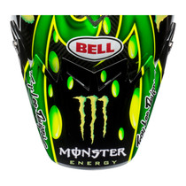 Bell Replacement Moto 9 Flex Peak (MC Monster Green/Black)