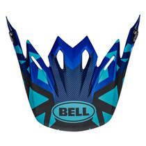 Bell Replacement Moto 9 Peak (Tremor Blue/Black)