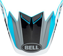 Bell Replacement Moto-9 Flex Peak (Division M/G White/Black/Blue)