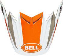 Bell Replacement Moto-9 Flex Peak (Division M/G White/Orange/Sand)