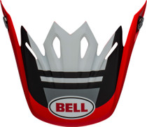 Bell Replacement Moto-9 Mips Peak (Prophecy Matte White/Red/Black)