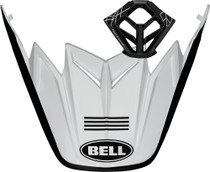 Bell Replacement Moto-9 Peak & MP Kit (Fasthouse 4 Stripe Matte White/Black)