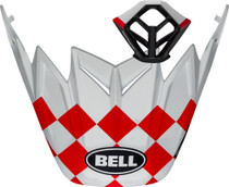 Bell Replacement Moto-9 Peak & MP Kit (Fasthouse Checkers (Matte White/Red)