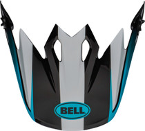Bell Replacement MX-9 Peak (Dash White/Blue)