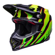 Bell MX 2022 Moto-9S Flex Adult Helmet (Claw Black/Green)