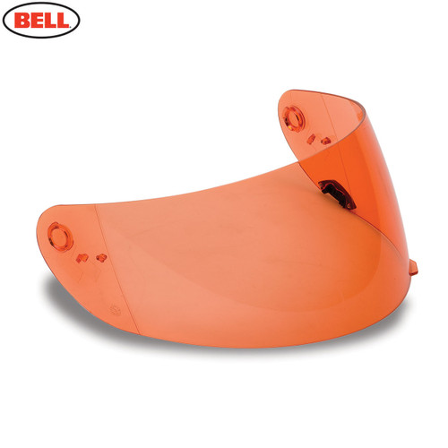 Bell Replacement Qualifier/DLX/RS-2 Click Release Shield Nutra Fog II HI-DEF Orange