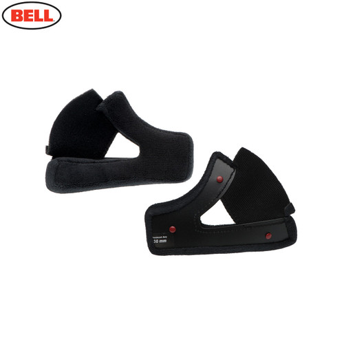 Bell Replacement Moto 3 Cheek Pad Set Cloth (Black) - Various Sizes