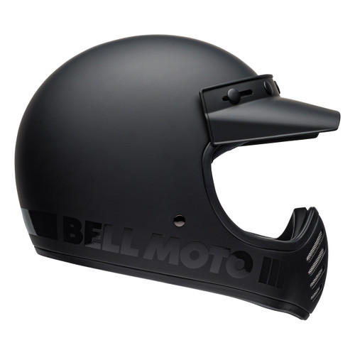 Bell 2020 Cruiser Moto 3 Adult Helmet (Blackout Matte/Gloss Black)