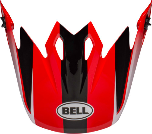 Bell Replacement MX-9 Peak (Dash Red/Black)