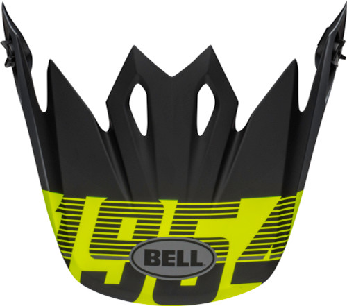 Bell Replacement MX-9 Peak (Strike Matte Gray/Black/Hi Viz)