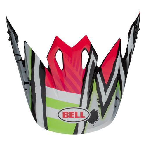 Bell Replacement MX-9 Peak (Tagger Pink/Green)