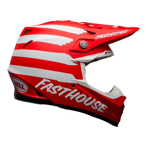 Bell MX Moto-9 Mips Adult Helmet (Fasthouse Signia Matte Red/White)