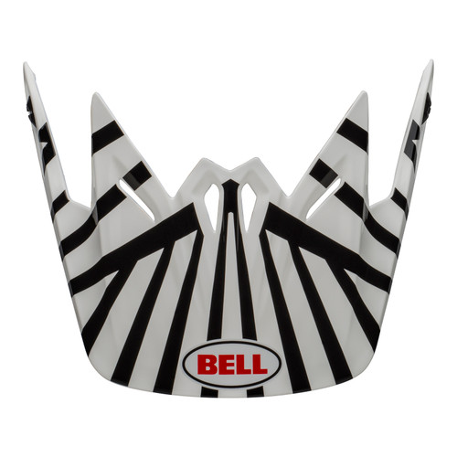 Bell Replacement Youth Moto-9 Peak (Tagger CMO White/Black)