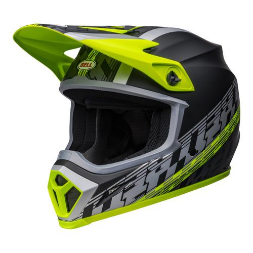 Bell MX 2022 MX-9 Mips Adult Helmet (Offset Matte Black/Hi-Viz Yellow)