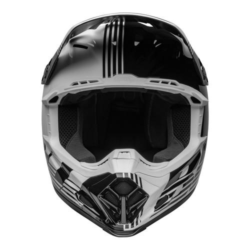 Bell MX 2022 Moto-9 Mips Adult Helmet (Louver Black/White)