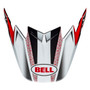 Bell Replacement Moto-9 Flex Peak (Hound Red/White/Black)