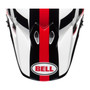Bell Replacement MX-9 Peak (Marauder White/Black/Red)