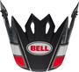 Bell Replacement MX-9 Peak (Twitch Replica Matte Black/Red/White)