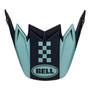 Bell Replacement Moto-9 Flex Peak (Breakaway Matte Navy/Light Blue)