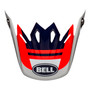 Bell Replacement Moto-9 Mips Peak (Prophecy Infrared/Navy/Gray)