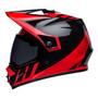 Bell MX 2022 MX-9 Adventure Mips Adult Helmet (Dash Black/Red)
