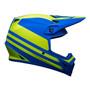 Bell MX 2022 MX-9 Mips Adult Helmet (Disrupt Matte Classic Blue/Hi-Viz Yellow)