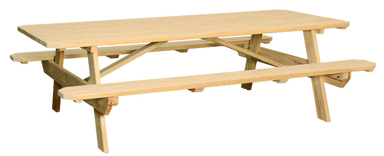 Fantastic Large Picnic Table W Attached Benches Ibusinesslaw Wood Chair Design Ideas Ibusinesslaworg