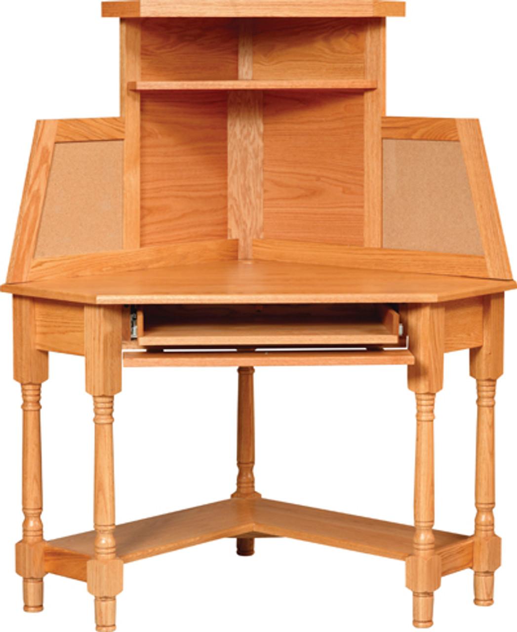 - CO 42 Corner Computer Desk W/Hutch - Whispering Pines Furniture
