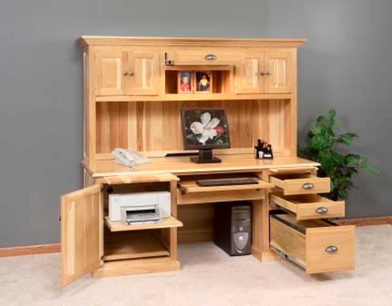 GO-44 Computer Desk, Traditional, w/ Extra-Large Door