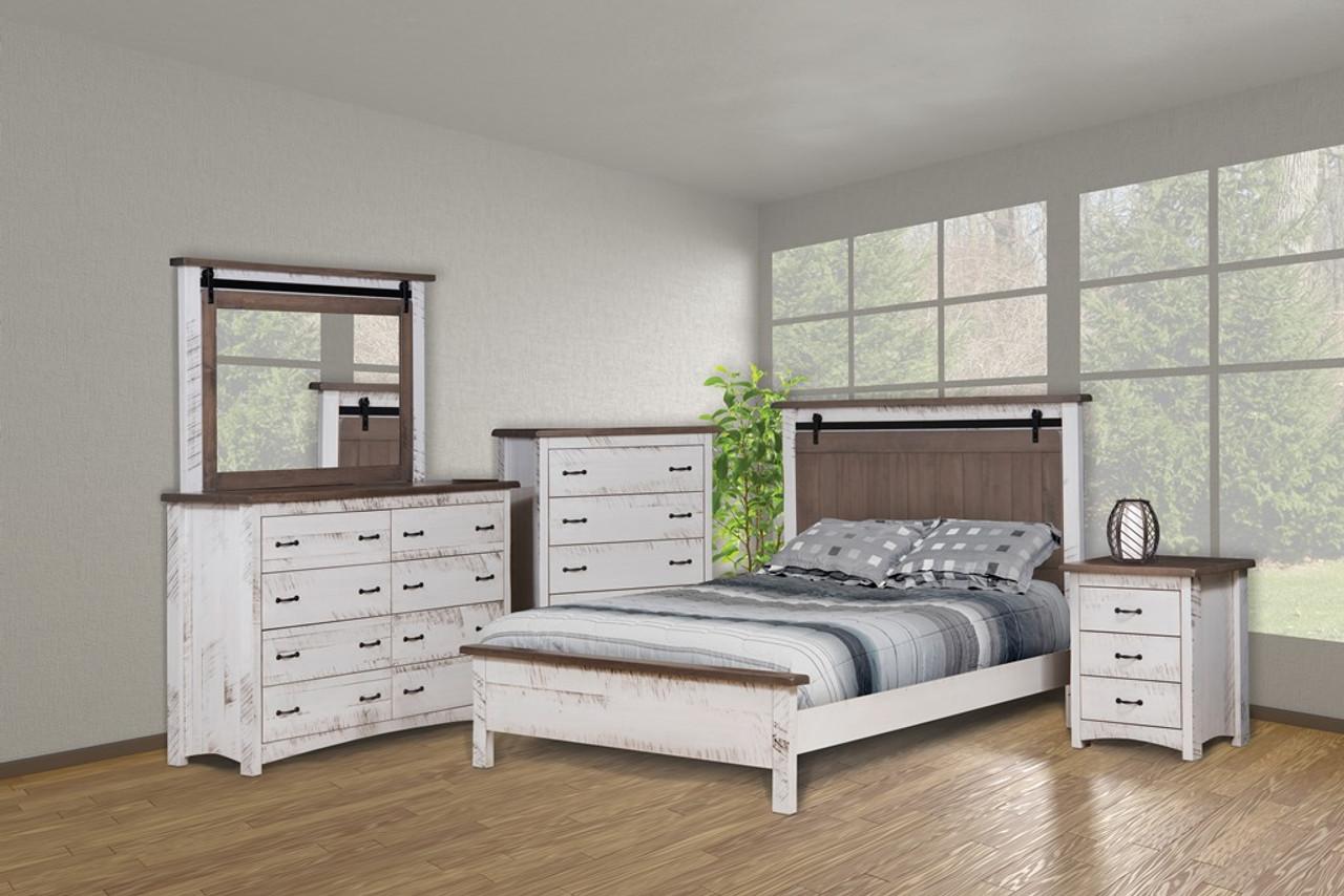 Sandusky 5 Piece Bedroom Set Whispering Pines Furniture