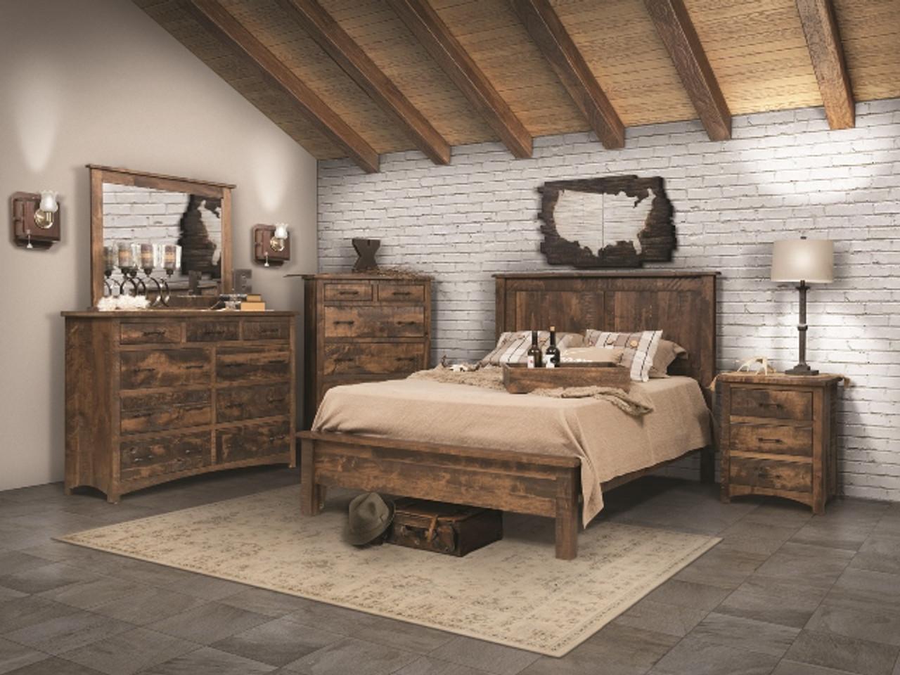 Barnfloor Style 5 Piece Bedroom Set Whispering Pines Furniture