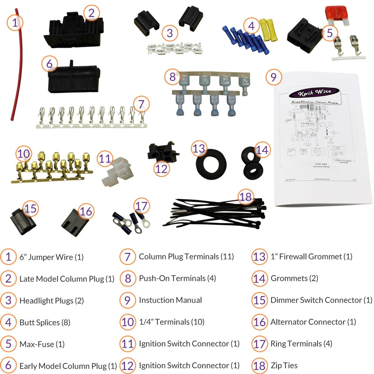 Standard Harness Install Kit Electrify Your Ride Wiring Firewall Grommet