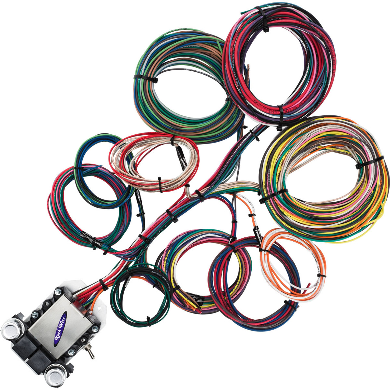 14 Circuit Ford Wire Harness - KwikWire.com | Electrify Your Ride on capacitor labeling, power supply labeling, safety harness labeling, cable labeling, control panel labeling, hose labeling,