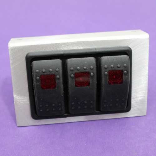 e7e695d318b 3 Position Rocker Switch Panel with Lights