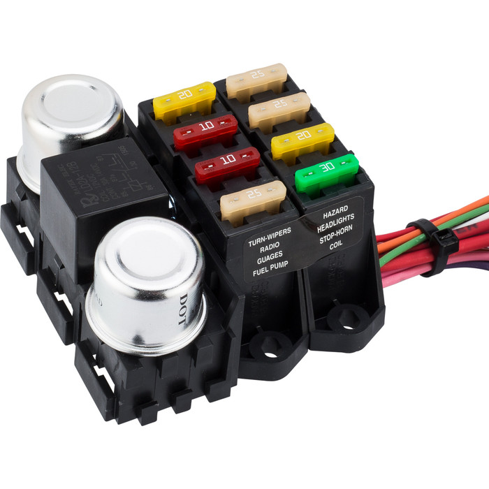 8 circuit wiring harness wiring diagram general8 circuit budget wire harness kwikwire com electrify your ride painless 8 circuit wiring harness 8