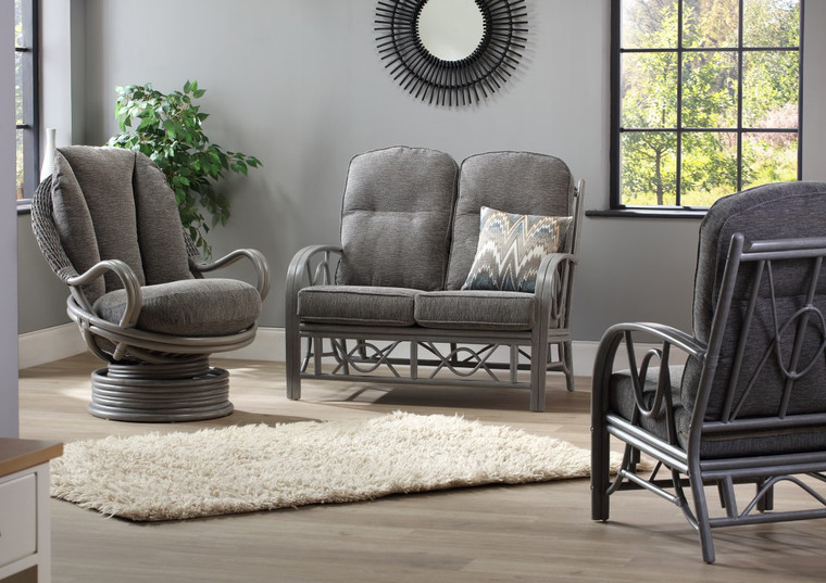BALI GREY WASH RATTAN SET