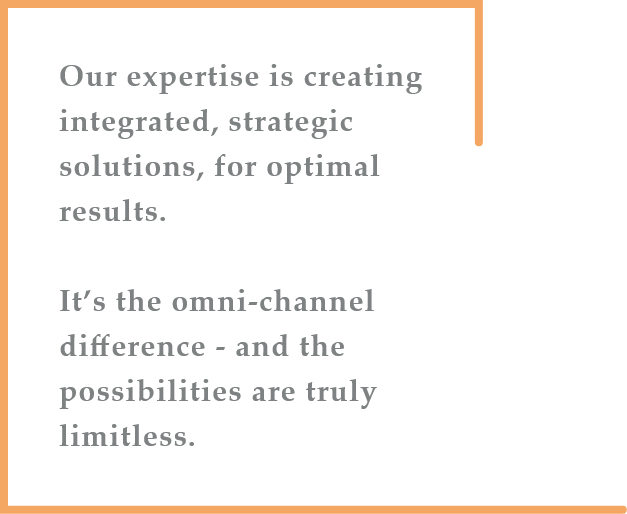 Our expertise is creating integrated, strategic solutions for optimal results.