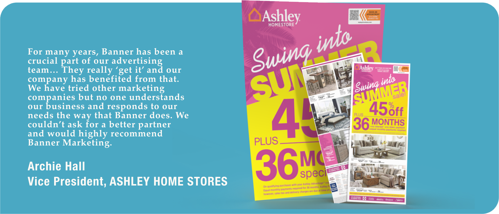 Ashley Home Store Testimonial