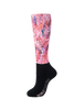Over the Calf Peddies - Women's Prints - Feather Me Pink