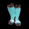 C4 Riding Socks - Turquoise/Brown