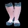C4 Riding Socks - Dusty Rose/Grey