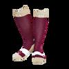 C4 Riding Socks - Maroon/Creme