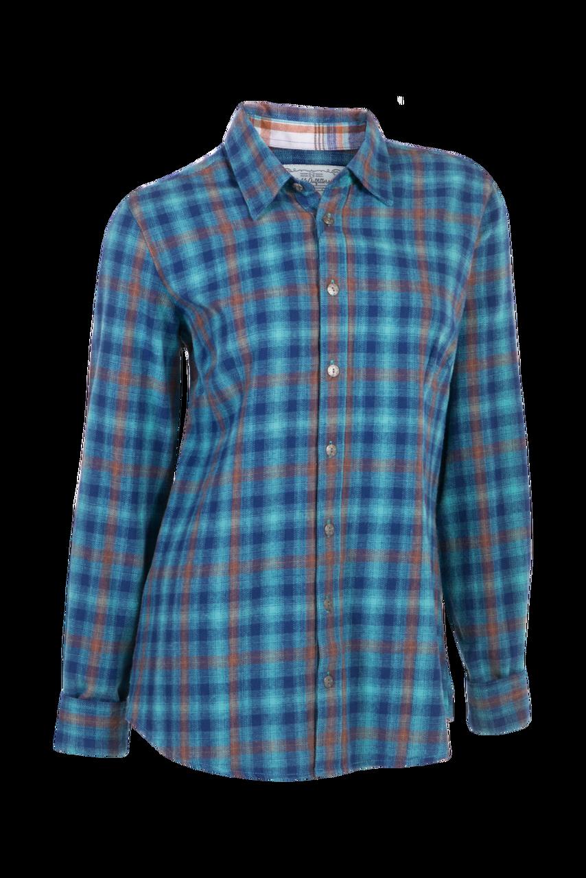 fa25625c47 Downtown Flannel Shirt - Blueprint Plaid - The Posh Pony Boutique